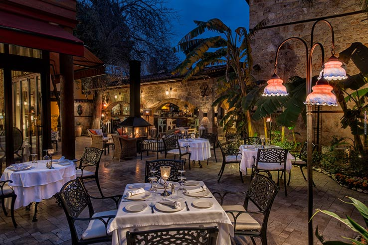 Fly to Antalya, dine at Seraser