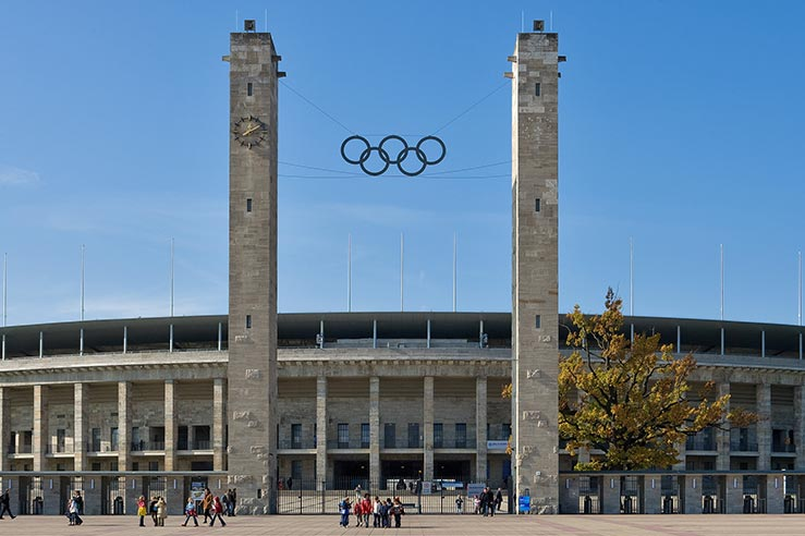 Fly to Berlin, visit Olympiastadion.