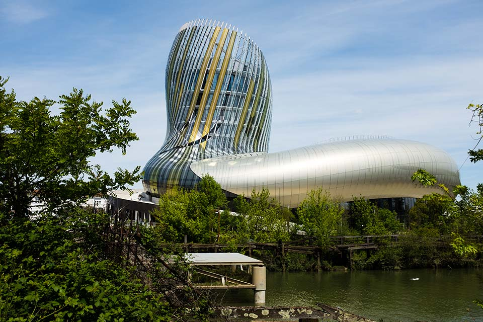 Fly to Bordeaux, visit La Cite du Vin.