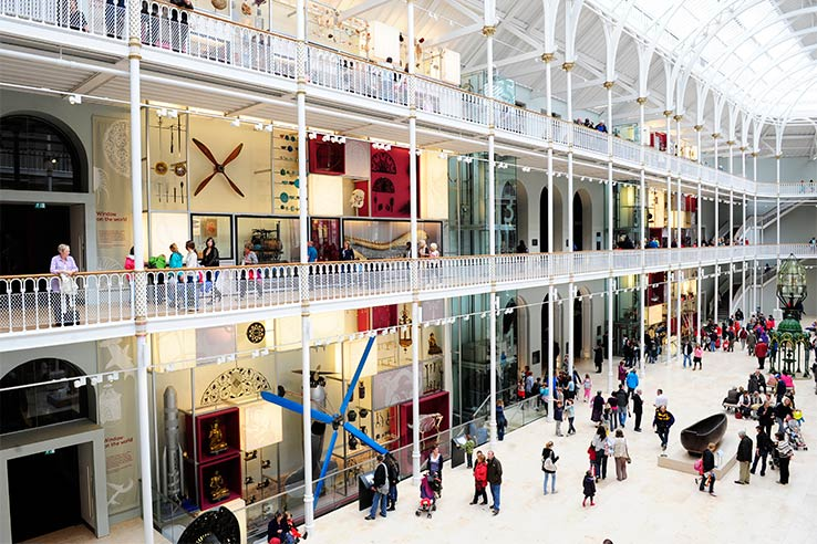 Fly to Edinburgh, visit the National Museum of Scotland.