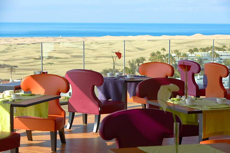 Fly to Gran Canaria, dine at the 360° Lounge and Restaurant.