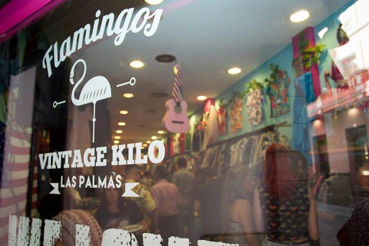 Fly to Gran Canaria, shop at Flamingos Vintage Kilo in Las Palmas.