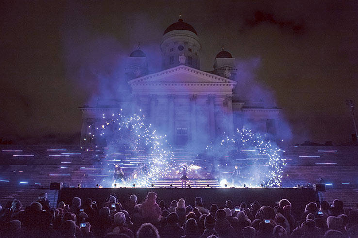Fly to Helsinki in January and experience the Helsinki Lux festival.