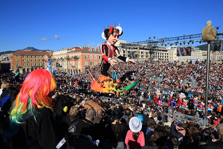 Fly to Nice in February, see the carnival.