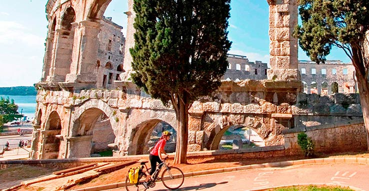 Fly to Pula, experience Istrias history and cultural heritage.