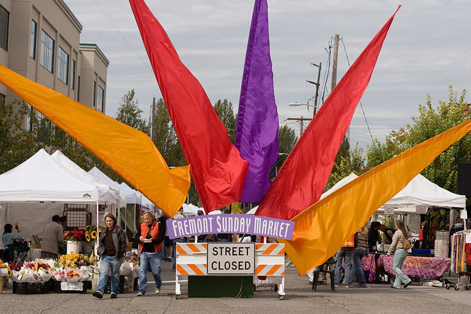 Fly to Seattle, visit the Fremont Sunday Market.