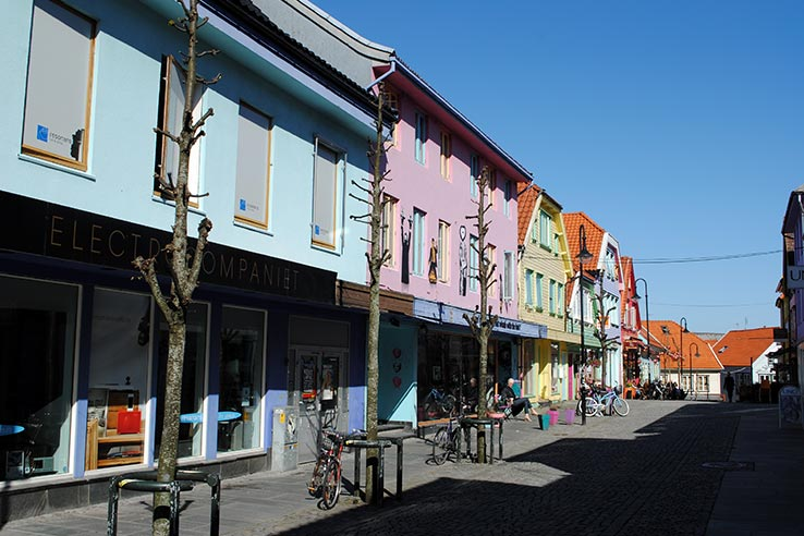 Shopping street in Stavanger