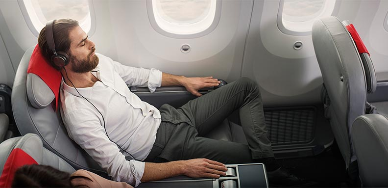 A comfortable seat with 1.16 metres legroom.